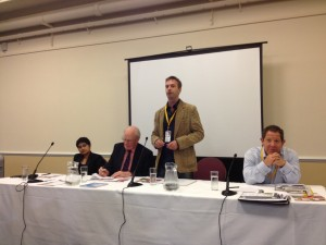 Stephen Tall introduces the panel at our Civil Liberties Event