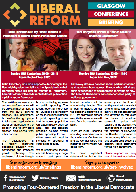 Liberal Reform Glasgow Conference Briefing